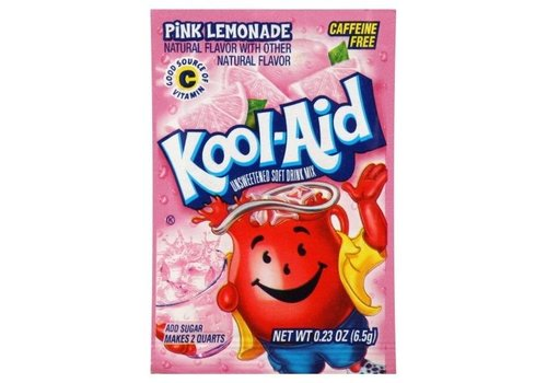 KOOL-AID PINK LEMONADE UNSWEETENED DRINK MIX 2QT