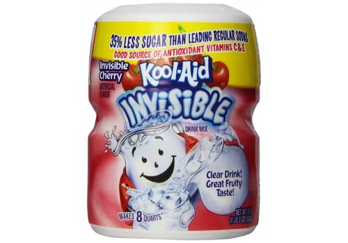 KOOL-AID INVISIBLE CHERRY CANISTER 19oz (538g)