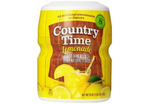 KRAFT COUNTRY TIME SWT LEMONADE DRINK MIX 8QT 19oz (538g)