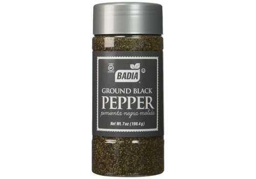 BADIA PEPPER GROUND BLACK 7oz (198g)