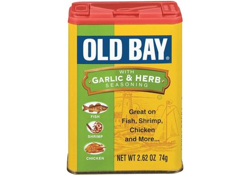 McCORMICK OLD BAY GARLIC & HERB SEASONING 2.62oz (74g)