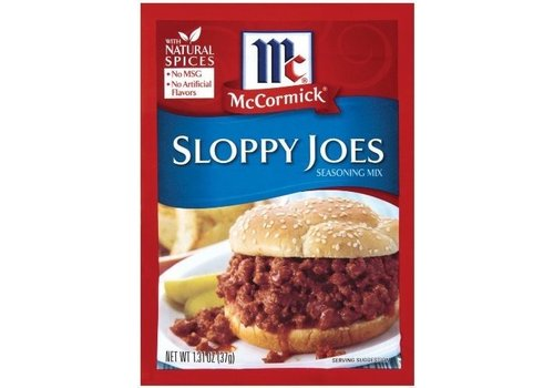 McCORMICK SLOPPY JOES SEASONING MIX 1.31oz (37g)