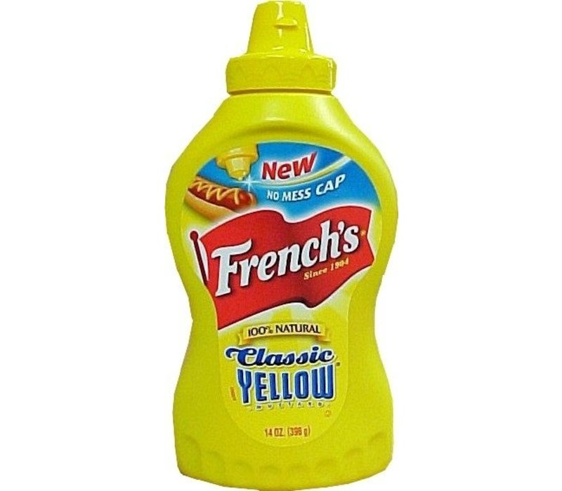 YELLOW MUSTARD SQUEEZE BOTTLE 14oz (396g)