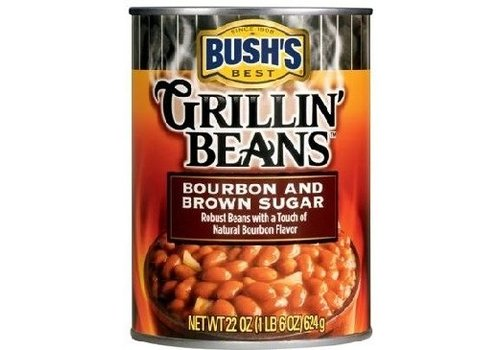 BUSH'S GRILLIN BEANS BOURBON & BROWN SUGAR 22oz (624g)