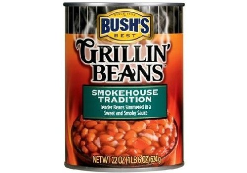 BUSH'S GRILLIN BEANS SMOKEHOUSE TRADITION 22oz (624g)