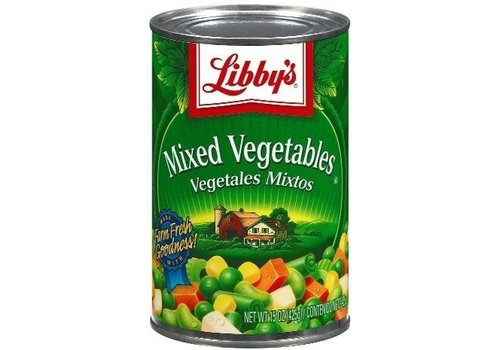 LIBBY'S LIBBYS MIXED VEGETABLES 15oz (425g)