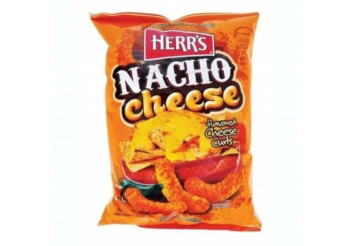 HERR'S NACHO CHEESE CURLS 7oz (198.5g)