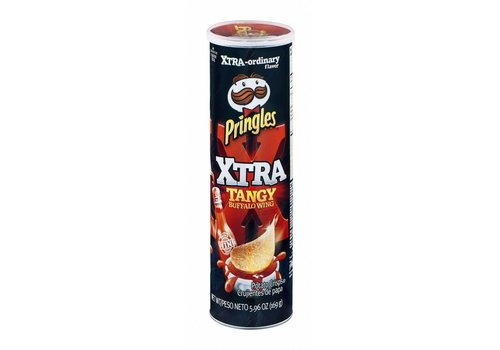 PRINGLES XTRA TANGY BUFFALO WING POTATO CRISPS 5.oz (158g)
