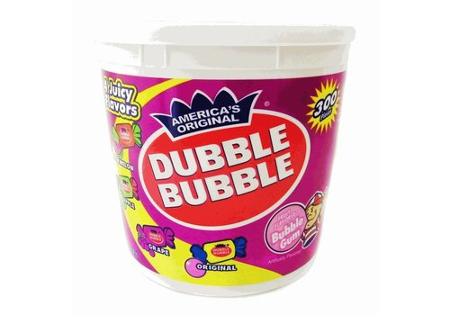 DUBBLE BUBBLE 4 FLAVOR CHANGEMAKER TUB 300pc 47.5oz (1.35kg)