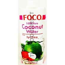 FOCO 100% Pure Coconut Water with Lychee 500ml