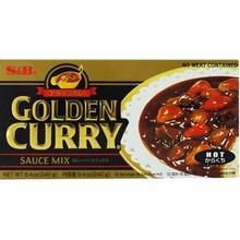 S & B Japenese Golden Curry Hot 240g