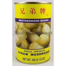 Brotherhood Whole Unpeeled Straw Mushrooms 210g