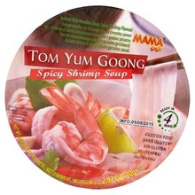 Mama Instant Rice Noodles -Tom Yum Goong Spicy Shrimp Soup  (Cup) - 1 x 70g