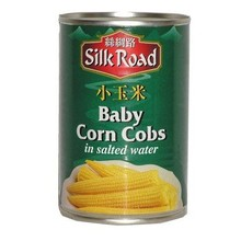 Silk Road Baby Corn Cobs in Salted Water 410g