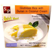 S & P Glutinous Rice with Durian in Coconut Cream 200g