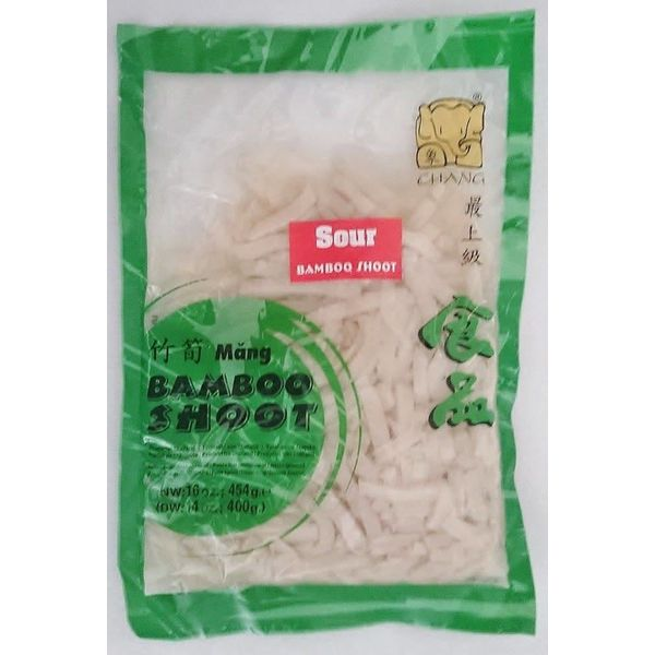 Chang Sour Bamboo Shoot - Strip ( Vacuum) 454g