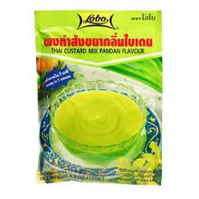 Lobo Thai Custard Pandan Flavour 120g