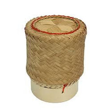 Bamboo Basket for Sticky Rice  3.5""