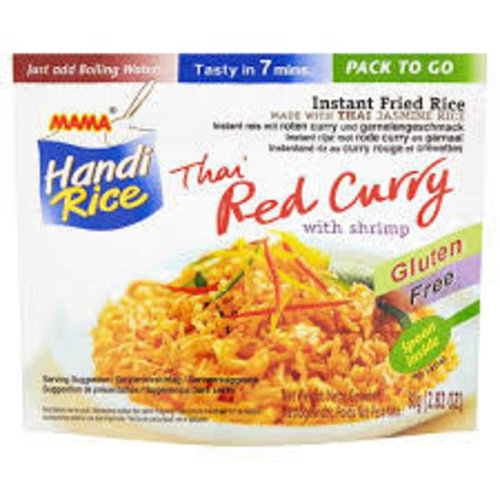 Mama Instant Fried Rice - Red Curry With Shrimps - 80g