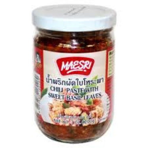 Maesri Chilli Paste with sweet basil 200g