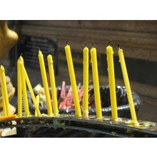 Sang Tip Lucky Candle (long yellow)