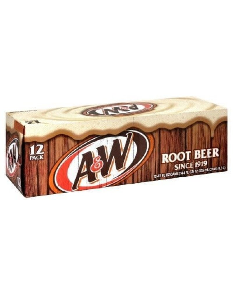 A & W Root Beer Case 12 x 355ml