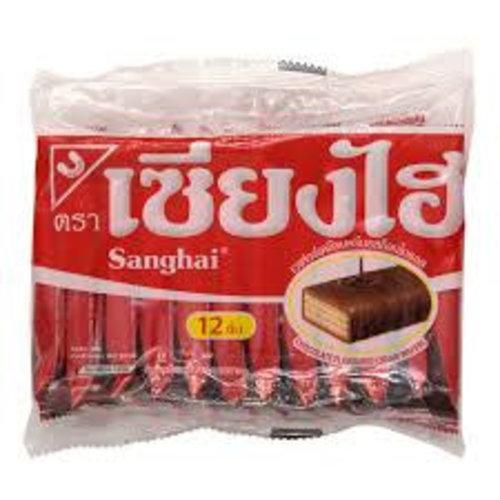 Sanghai Cream wafer -Chocolate 15x6g