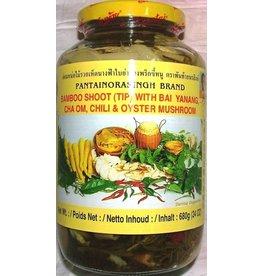 Pantai Bamboo Tips with Bai Yanang Chilli&  Mushroom 680g