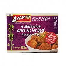 Ayam Malaysian Curry Kit For Beef Rendang - 360g