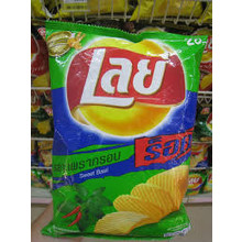 lays Sweet  Basil Flavour Crisips 55g