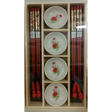 Chopstick Set (red)
