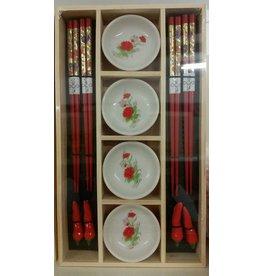 Chopstick Set (red)