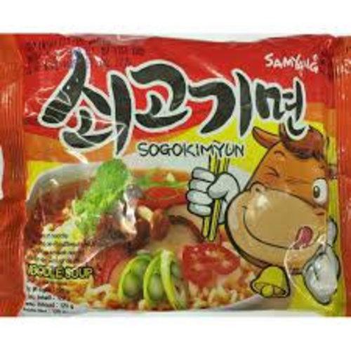 Samyang Instant Noodle Soup - Hot Beef  120g