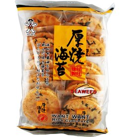 Want Want Rice Crackers - Seaweed 160g