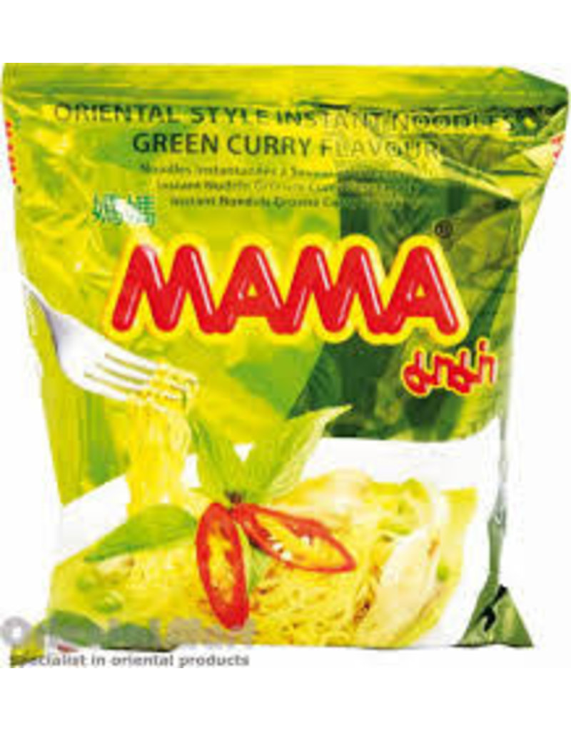 Mama Instant Noodles - Green Curry Flavour - 30 x 5.5g Pre-Order)