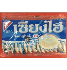 Shanghi Milk Flavour Cream Coated Wafer Biscuit 15 x 6g