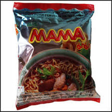 Mama Instant Noodles - Spicy Pork (moo Nam Tok) Flavour - 1 x 55g