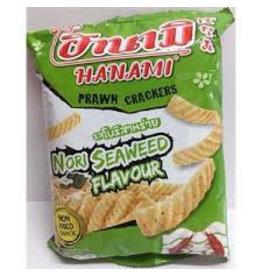 Hanami Hamami Prawn Crackers Nori Seaweed flavour 60g