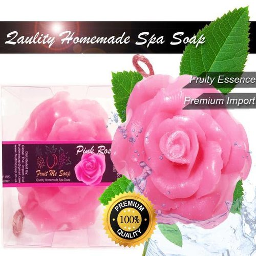 Fruit Me Soap Homemade Pink Rose Soap 100g