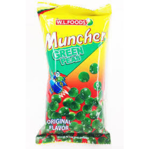 Muncher Best Before 01/18 Green Peas Original 70g