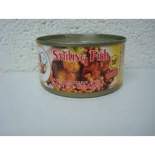 Smiling Fish Fried Mackerels with Salted Beans 24x185g (Pre-Order)