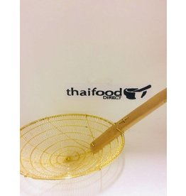 C & C Bamboo Handle Brass Wire Muj-Lai 25cm