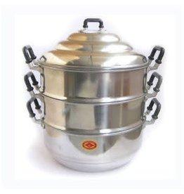 Aluminium Steamer - 3 Tier Pot  - 28cm