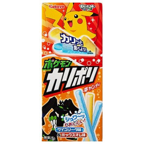 Kabaya Pokémon Soda and Mix Au Lait Stick Candy 30g