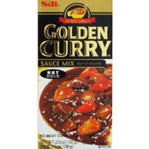 S & B Vegetarian Golden Curry Hot - Fun Size 100g