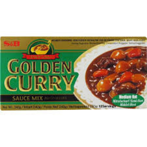 S & B Vegetarian Golden Curry -Medium Hot 100g
