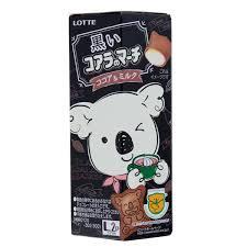 Lotte Koala's March Black Cocoa & Milk Chocolate Cream Biscuits Ltd Edition 48g