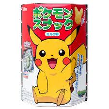 Tohato Pokemon Pikachu Shaped Chocolate Snacks with a Sticker 23g