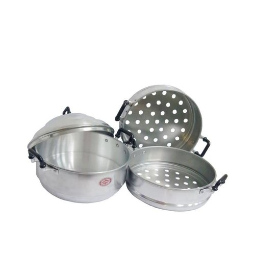 Diamond Aluminium Steamer 3 Tier Pot with Lid 26cm