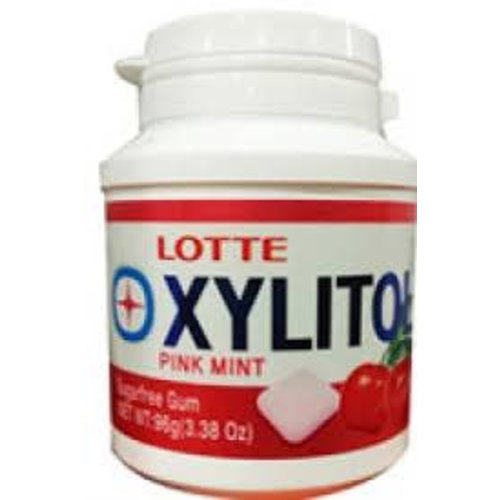 Lotte Xylitol Sugar Free Gum -Pink Mint 96g